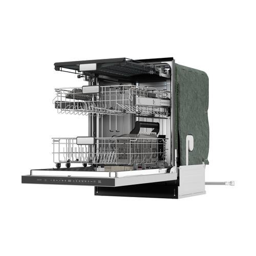 Sharp - 24 in. Slide-In Stainless Steel Pocket Handle Dishwasher