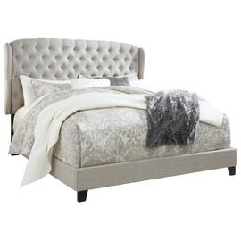 Winged Queen Upholstered Bed