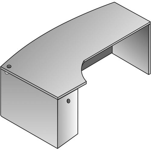 Bow Desk W/computer Corner L