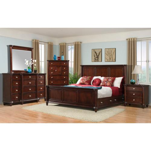 Hamilton Bedroom - King Storage, Bed, Dresser, Mirror, Chest, and Night Stand