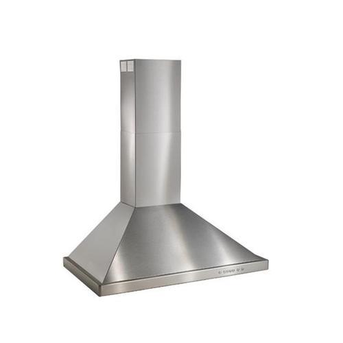 "BEST Range Hoods - WTT32 - 30"" Brushed Stainless Steel Wall Mount Chimney Hood with Internal 400 Max CFM Blower"