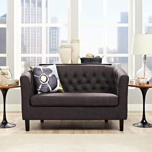 Modway - Prospect Upholstered Fabric Loveseat in Brown