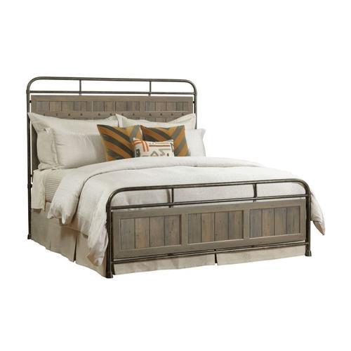 Folsom Queen Metal Bed - Complete
