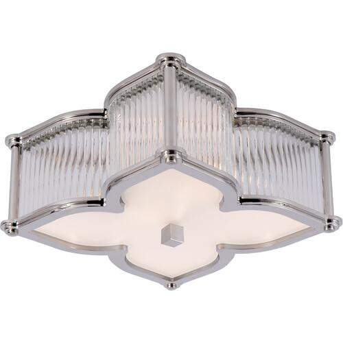 Visual Comfort AH4018PN/CG-FG Alexa Hampton Lana 2 Light 15 inch Polished Nickel with Clear Glass Flush Mount Ceiling Light