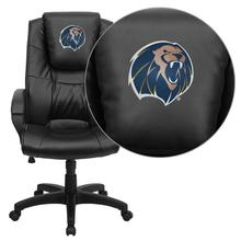 Arkansas Fort Smith Lions Embroidered Black Leather Executive Office Chair