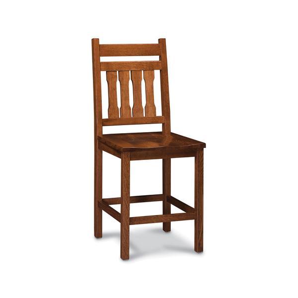 Franklin Stationary Barstool, Fabric Cushion Seat
