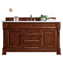 "View Product - Brookfield 60"" Single Bathroom Vanity-Warm Cherry"