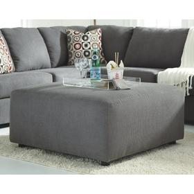 Jayceon Oversized Ottoman Steel