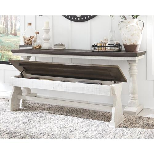 Braelow Two-Tone Sofa Bar Table and Bench