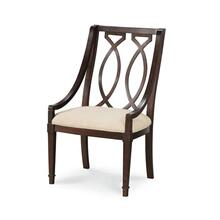 Wood Back Arm Chair