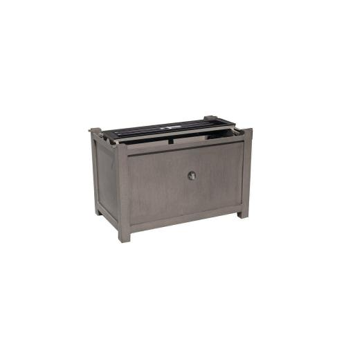 "Elba Rectangular Fire Pit Base w/Burner for 50"" x 29"" Rectangular Top"