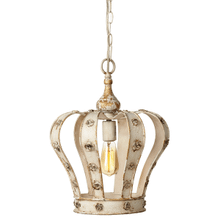 See Details - Distressed Ivory Crown Pendant. 60W Max. Hard Wire Only.