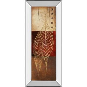 """""""Fossil Leaves I"""" By Patricia Pinto Mirror Framed Print Wall Art"""