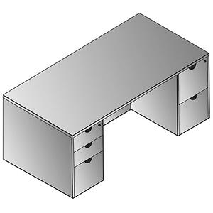 "Kenwood Double Pedestal Desk 72""x36"""