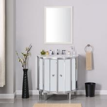 Mirrored Thersa Mirrored Vanity Sink With Marble Top
