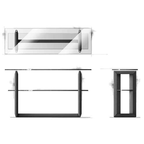 Magnussen Home - Shelf Sofa Table