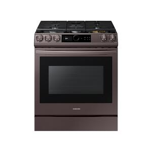 Samsung Appliances6.0 cu ft. Smart Slide-in Gas Range with Smart Dial & Air Fry in Tuscan Stainless Steel