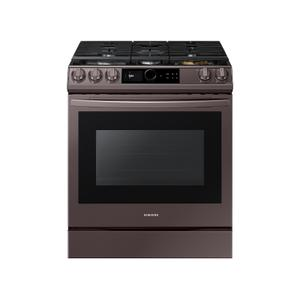 Samsung Appliances6.0 cu. ft. Front Control Slide-in Gas Range with Smart Dial, Air Fry & Wi-Fi in Tuscan Stainless Steel