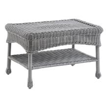 Maui Camelback Resin Wicker/ Steel Coffee Table - Weathered Gray