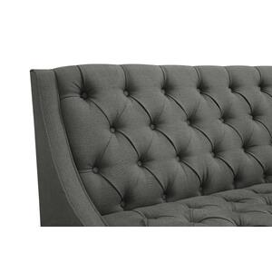 Scoop Arm Tufted Entryway Bench in Charcoal Grey