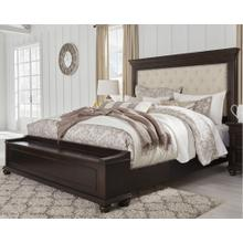 Queen Size Upholstered Bed with Storage Bench