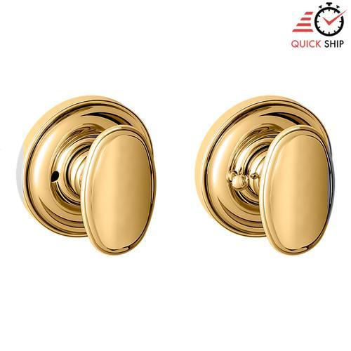 Baldwin - Non-Lacquered Brass 5057 Estate Knob with 5048 Rose