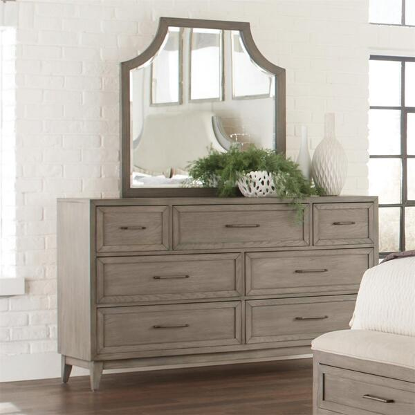 Vogue - Arch Mirror - Gray Wash Finish