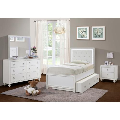 Samuel Lawrence Furniture - Bella White Nightstand with Port