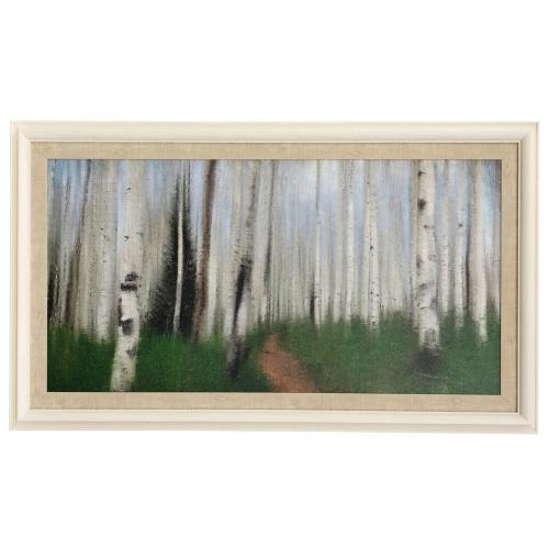 Style Craft - Path Through the Aspens  46in w X 26in ht  Made in USA  Textured Framed Print