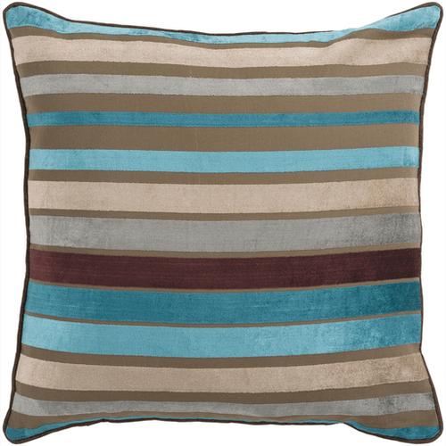 """Velvet Stripe JS-024 18"""" x 18"""" Pillow Shell Only"""