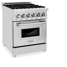 ZLINE 24 in. Professional Dual Fuel Range in Stainless Steel (RA24)