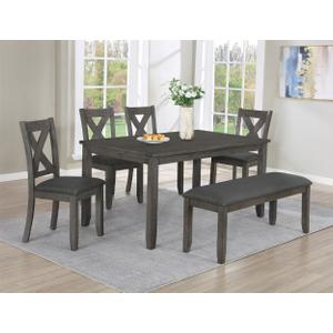 Favella Dining Table Dark Grey