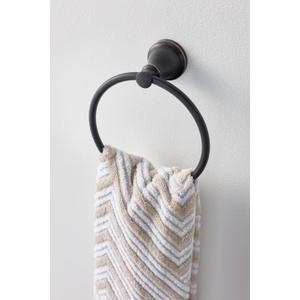 Hilliard mediterranean bronze towel ring