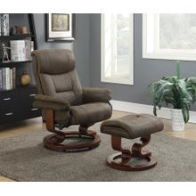 See Details - Chair With Ottoman