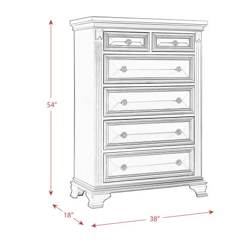 Calloway 6-Drawer Chest in White