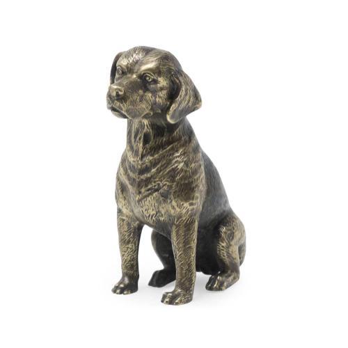 Beagle dog in light and dark antique bronze
