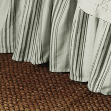 "Prescott Taupe Striped Bedskirt, 17"" Drop (queen/king) - King"