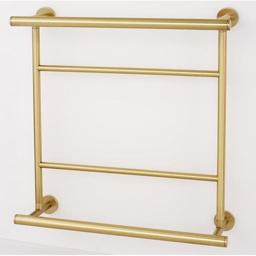 Contemporary I Hospitality Towel Rack A8328-18 - Satin Brass