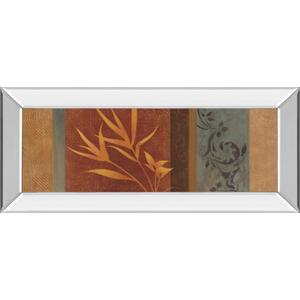 """""""Leaf Silhouette I"""" By Jordan Grey Mirror Framed Print Wall Art"""