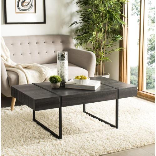 Safavieh - Tristan Rectangular Modern Coffee Table - Black