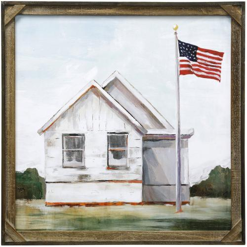 Style Craft - AMERICAN PRIDE  30in X 30in  Made in the USA  Textured Framed Print