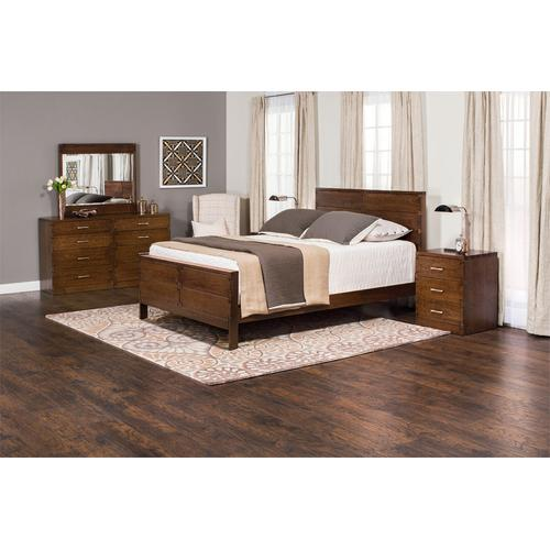 Dovetail Bed, Dovetail Headboard with Wood Frame, California King