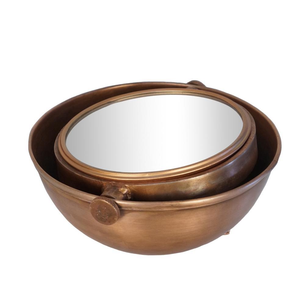 See Details - Copper Half Moon Mirror, Adjustable