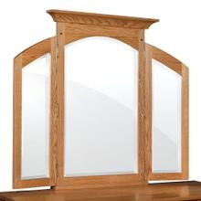 See Details - Royal Mission Tri-View Mirror with Walnut Inlay, 62'w x 44'h