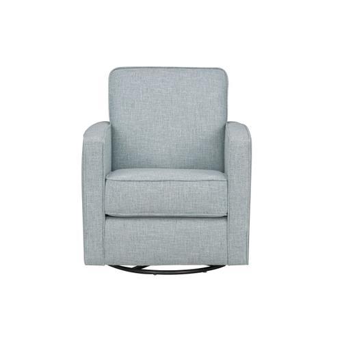 Gallery - Ellison Upholstered Swivel Accent Chair, Aqua