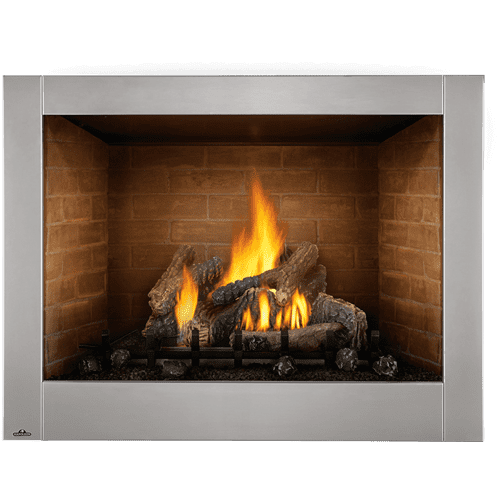 Riverside 42 Clean Face Outdoor Gas Fireplace , Stainless Steel , Natural Gas