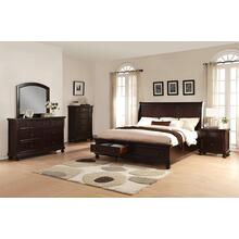 Brishland Rustic Cherry Storage Bedroom set KING AND QUEEN Bed Dresser Mirror Nighstand and Chest, King