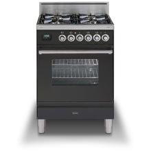 24 Inch Matte Graphite Natural Gas Freestanding Range