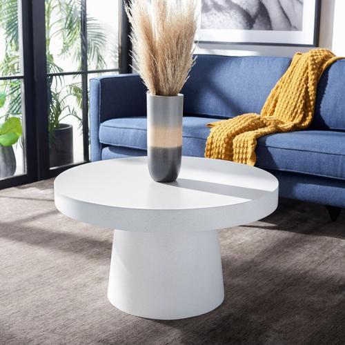 Safavieh - Jaria Paper Mache Coffee Table - White Terrazzo