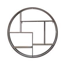 See Details - Round Wood/metal Wall Shelf